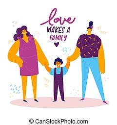 omosessuale, family., lgbt, femmina