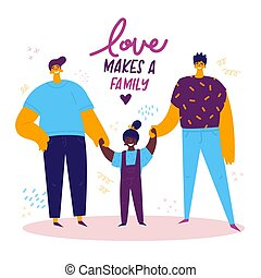 omosessuale, maschio, lgbt, family.