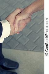 omryste, forretningsmænd, hænder