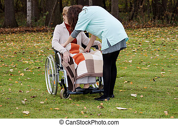 omsorg, i, disabled