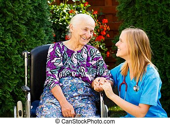 omsorgen, rullstol, äldre