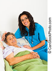 omsorgen, sköterskan