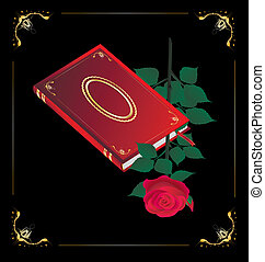 red book and rose
