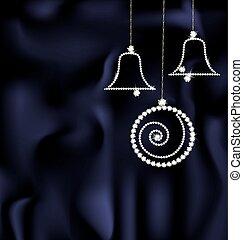jewel Christmas ball and bells