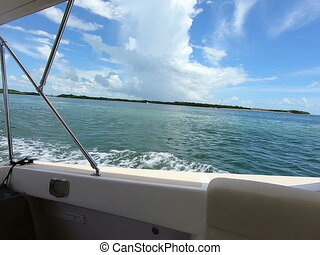 Footage from a boat ride off Key West Florida