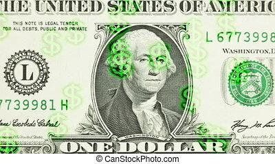 $ on a dollar bill