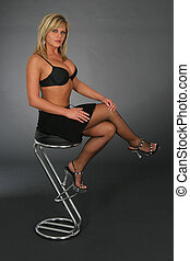 On a high Chair