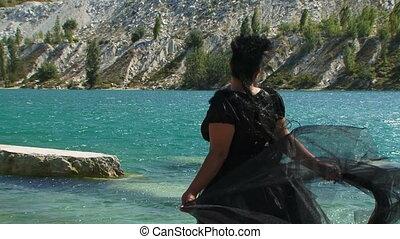On a lake