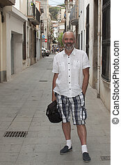 On a narrow street of Calella