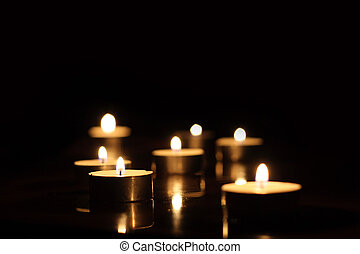 candles - On a photo candles in the night.