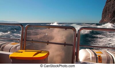 On A Speedboat At Playa De Masca, Tenerife, Spain - Graded...