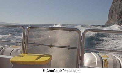 On A Speedboat At Playa De Masca, Tenerife, Spain - Native...