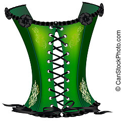 green corset