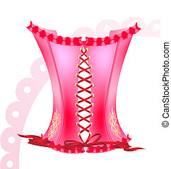 pink corset - on a white background is a big pink corset...