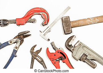 work tool - on a white background there are work tools such ...