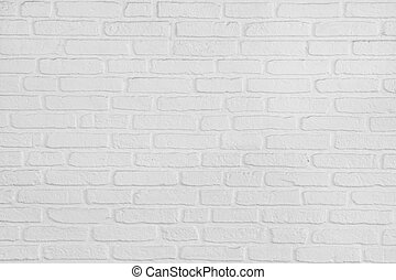 On a white painted brick wall background