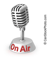 On Air and silver microphone