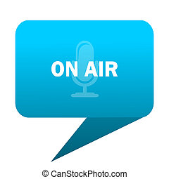 on air blue bubble icon