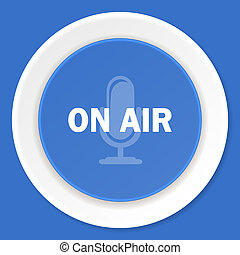 on air blue flat design modern web icon