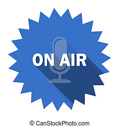 on air blue flat icon