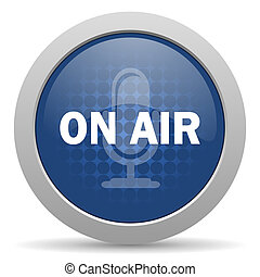 on air blue glossy web icon