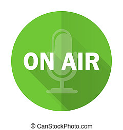 on air green flat icon