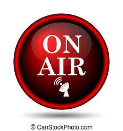 On air icon. Internet button on white background.