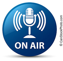On air (mic icon) blue round button