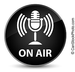 On air (mic icon) elegant black round button