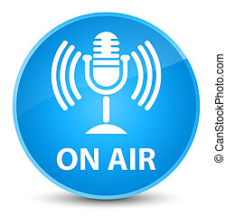 On air (mic icon) elegant cyan blue round button