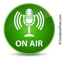 On air (mic icon) elegant green round button