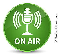 On air (mic icon) elegant soft green round button