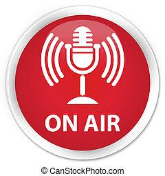On air (mic icon) premium red round button