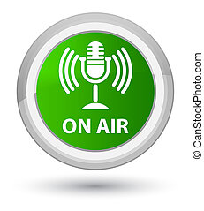On air (mic icon) prime green round button