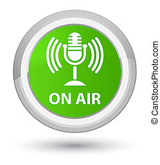 On air (mic icon) prime soft green round button
