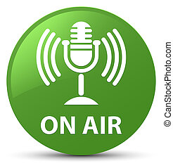 On air (mic icon) soft green round button