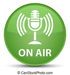 On air (mic icon) special soft green round button