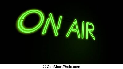 On air neon sign means broadcasting television or radio - 4k...