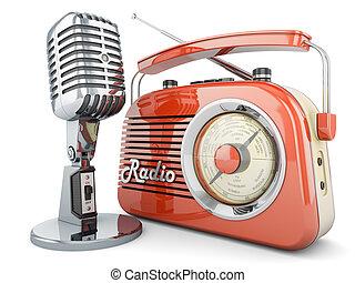 On air - ON AIR radio microphone retro vintage fm ...
