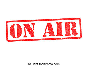 ON AIR Rubber Stamp over a white background.