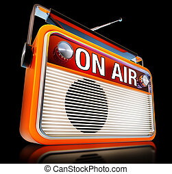 ON AIR - radio with a on air icon