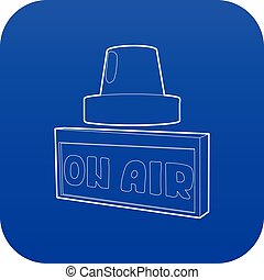 On air sign icon blue vector