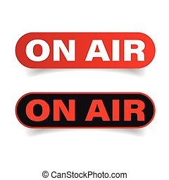 On Air sign red vector