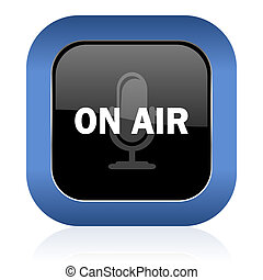 on air square glossy icon