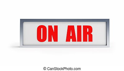 on air - tablet on a white background