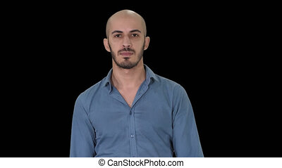 Attractive arab model walking, Alpha Channel - On Alpha...