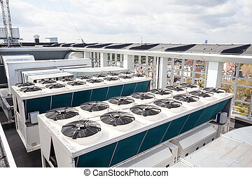 cooling air conditioning - on an flat roof there cooling air...