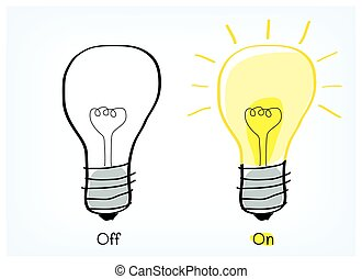 On and off light bulb idea