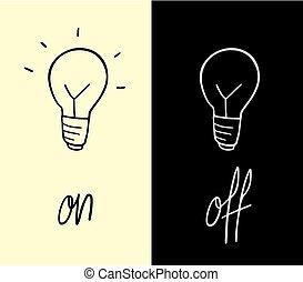 on and off symbols design