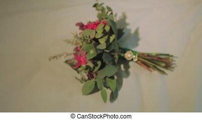 on Bed Lies Designer Bouquet of Bride